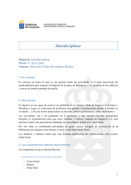 Interdisciplinar - Gobierno de Canarias