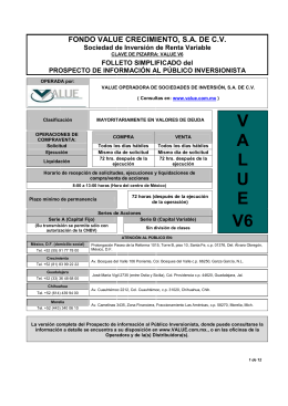 Folleto VALUE V6 Dic 2012