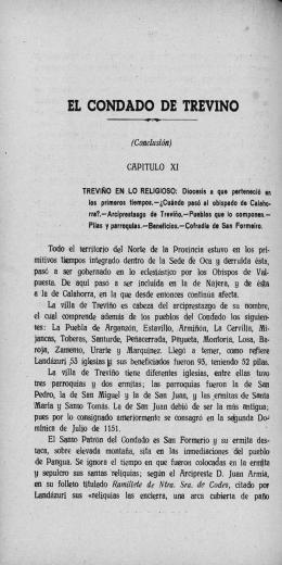 EL CONDADO DE TREVINO (Conclusión)