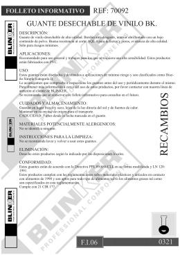 FI006 GUANTES DESECHABLES VINILO
