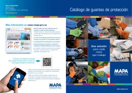 Catálogo de guantes de protección