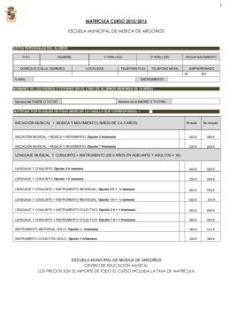 Matricula 2015-2016 - Ayuntamiento de Argoños