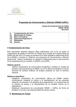 propuesta - Ministerio de Trabajo y Seguridad Social