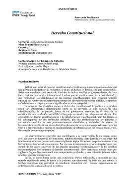 Derecho Constitucional - Facultad de Trabajo Social