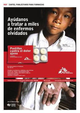 MSF CARTEL PUBLICITARIO PARA FARMACIAS