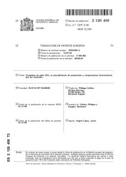 COMPLEJOS DE GALIO (III), SU PROCEDIMIENTO DE