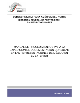 manual de procedimientos para la expedición de documentación