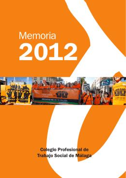 Descargar Memoria 2012 - Colegio Profesional de Trabajo Social