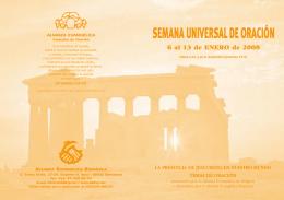 SEMANA UNIVERSALDEORACIÓN - Alianza Evangélica Española