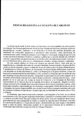FIESTAS REALES EN LA CATALUNA DE CARLOS 111