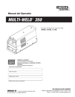 MULTI-WELD® 350 - Lincoln Electric