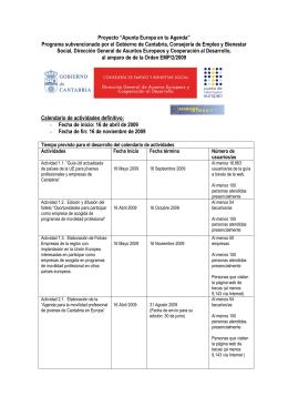 """Proyecto """"Apunta Europa en tu Agenda"""" Programa subvencionado"""