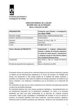 Informe Final Proyecto DGM 2005