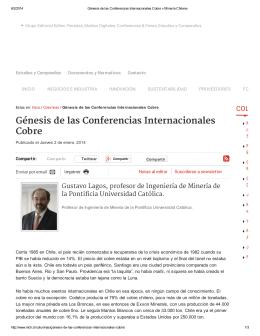 Génesis de las Conferencias Internacionales Cobre