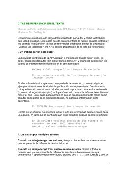 Citas de referencia en el texto.