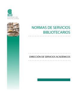 normas de servicios bibliotecarios normas de servicios bibliotecarios