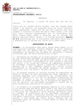 primera sentencia sobre el caso de las viviendas de segovia 21