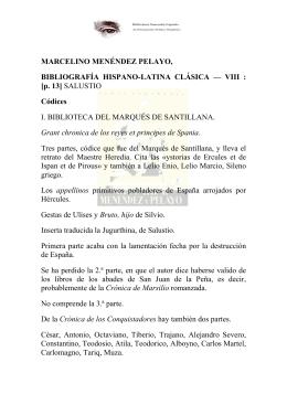 marcelino menéndez pelayo - Biblioteca SAAVEDRA FAJARDO de