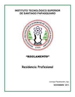 Residencia Profesional - Instituto Tecnológico Superior de Santiago