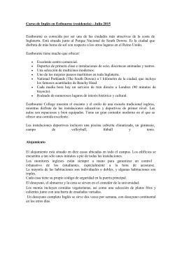 Curso de Inglés en Estbourne (residencia) - Julio 2015