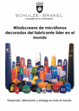 Windscreens de micrófonos decorados del - Schulze