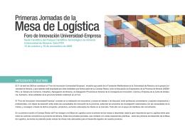 Mesa de Logística - Fundación Mediterránea