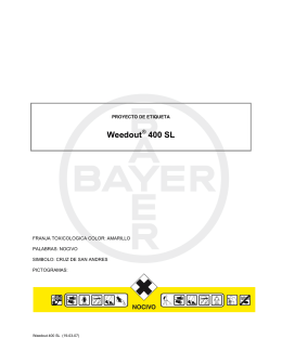 Weedout® 400 SL - BayDir Servicios