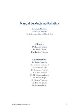 Manual de Medicina Paliativa - Asociación Latinoamericana de