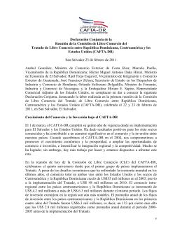 Declaración Conjunta de la Reunión de la Comisión de Libre