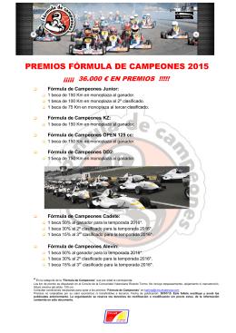 PREMIOS FÓRMULA DE CAMPEONES 2015