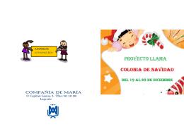 folleto colonia navidad 2014