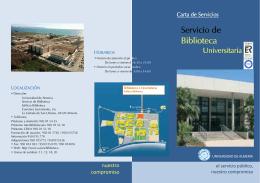 FOLLETO CARTA DE SERVICIOS SBU