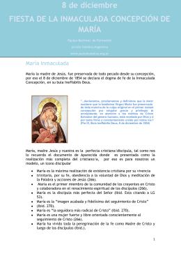 8 de diciembre FIESTA DE LA INMACULADA CONCEPCIÓN DE