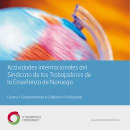 Actividades internacionales del Sindicato de los Trabajadores de la