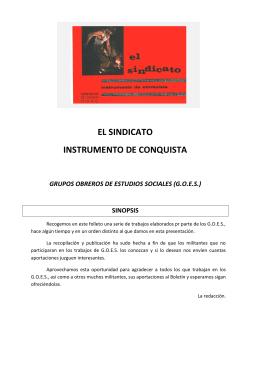 EL SINDICATO INSTRUMENTO DE CONQUISTA