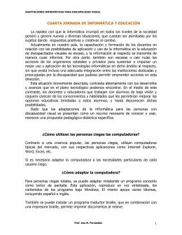 1 CUARTA JORNADA DE INFORMÁTICA Y EDUCACIÓN La