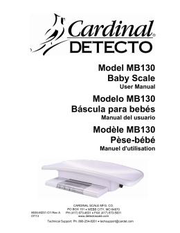 Model MB130 Baby Scale Modelo MB130 Báscula para bebés