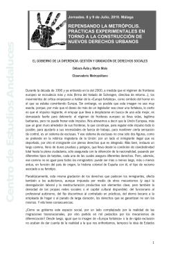 Débora Avila (Mesa 1) - Centro de Estudios Andaluces