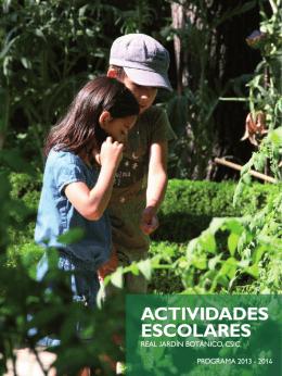 ACTIVIDADES ESCOLARES - Real Jardín Botánico