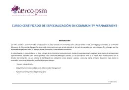 curso certificado de especialización en community