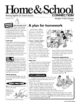 A plan for homework - Arlington Public Schools