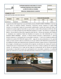 La gerente de la ESE Hospital San Lucas de El Molino doctora