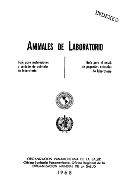 Cuidado Animales de Laboratorio.