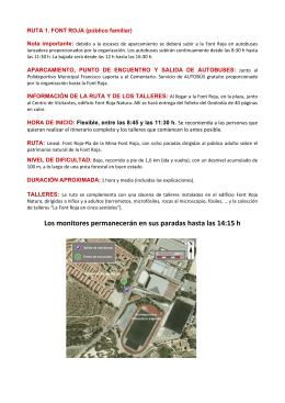 Información de la ruta 1