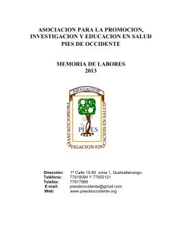 asociacion para la promocion, investigacion y educacion en salud