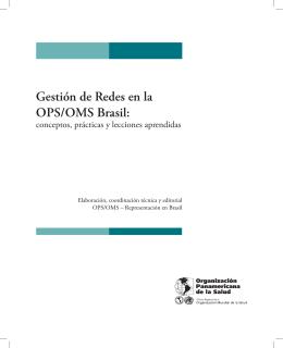 Gestión de Redes en la OPS/OMS Brasil: