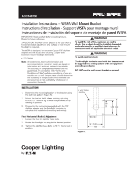 WSFA Wall Mount Bracket Instructions d`installation