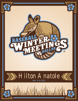 Hilton Anatole - Baseball Winter Meetings Registration Log-in