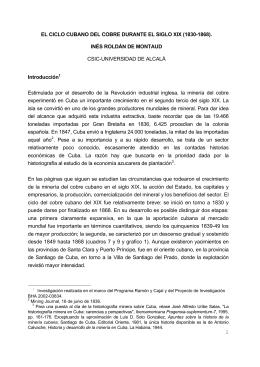 1 EL CICLO CUBANO DEL COBRE DURANTE EL SIGLO XIX (1830