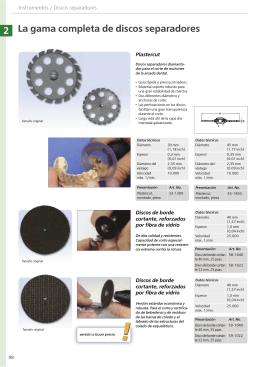 2 La gama completa de discos separadores